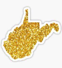 West Virginia sparkles Sticker