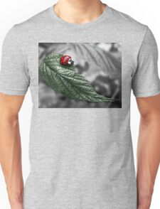 Color tint ladybug on leaf Unisex T-Shirt