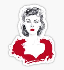 Burgundy or Scarlett Sticker
