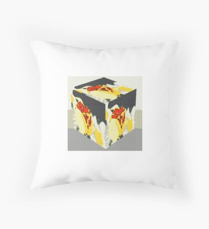 Tulips a cubed  Throw Pillow