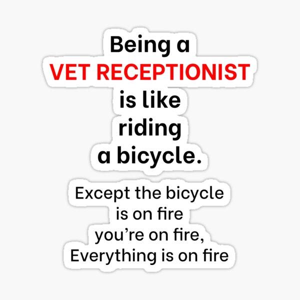 Veterinary Receptionist 1 Sticker