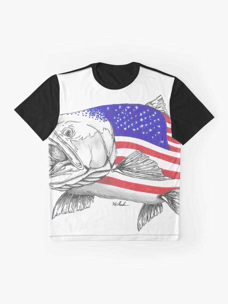 Vista alternativa de Camiseta gráfica American Steel Head Salmon
