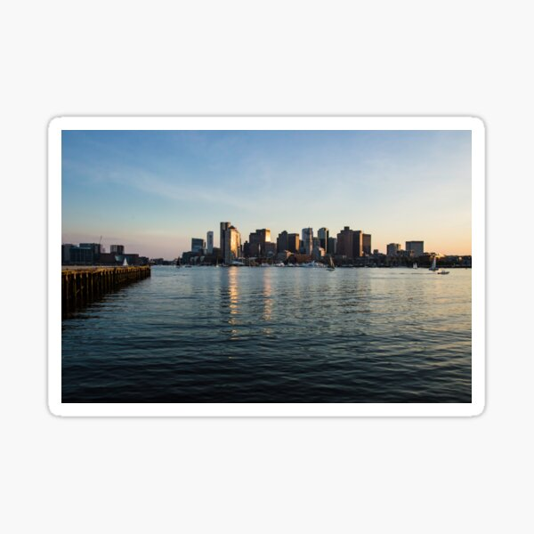Skyline of Boston Sticker