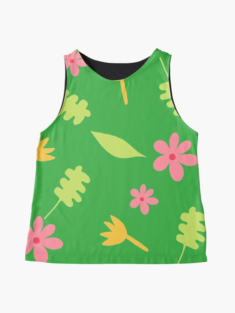 Alternate view of Pink and Yellow Flowers Sleeveless Top