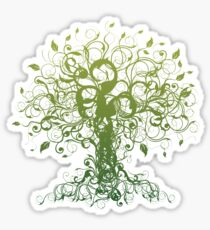 Meditate, Meditation, Spiritual Tree Yoga T-Shirt Sticker