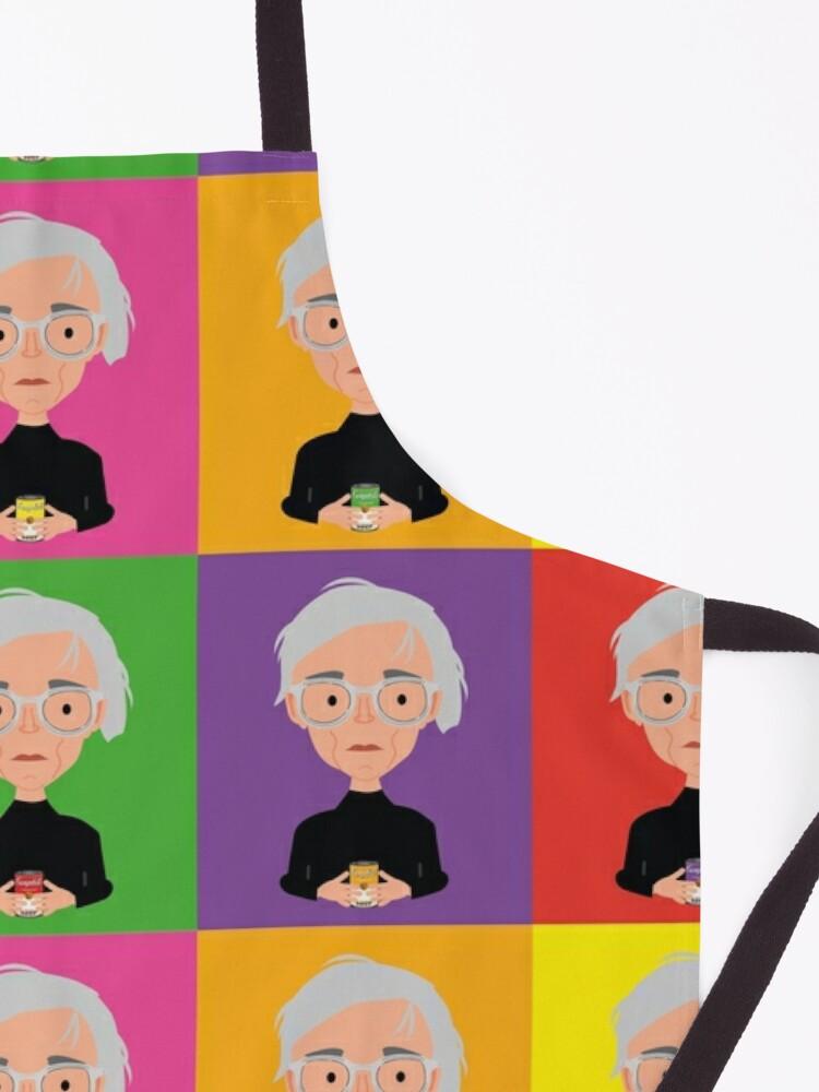 Vista alternativa de Delantal Warhol color