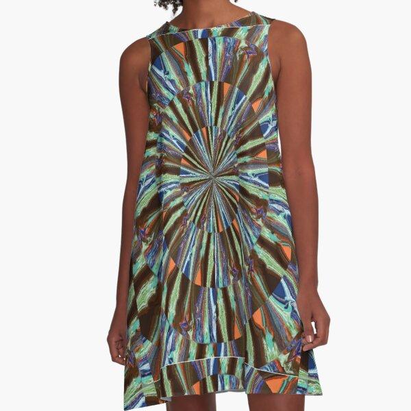Vibrant Psychedelic Art A-Line Dress
