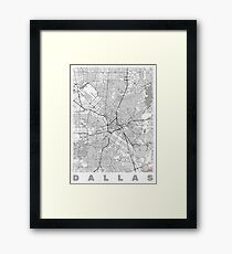 Dallas Map Line Framed Print