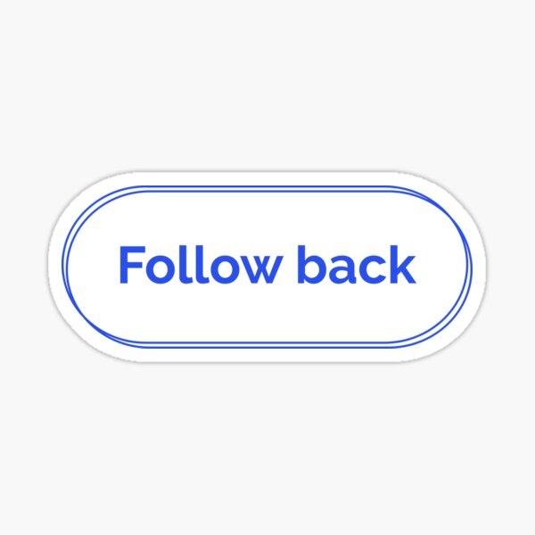 Follow back Sticker