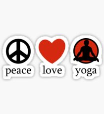 Peace Love Yoga T-Shirt Sticker