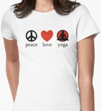 Peace Love Yoga T-Shirt T-Shirt