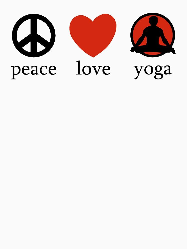 Friedensliebes-Yoga-T-Shirt von T-ShirtsGifts