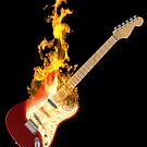 Guitar on Fire by Paul Fleet