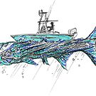 Tarpon and Fisherman by Statepallets