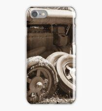 Vintage rusty farm tractor iPhone Case/Skin
