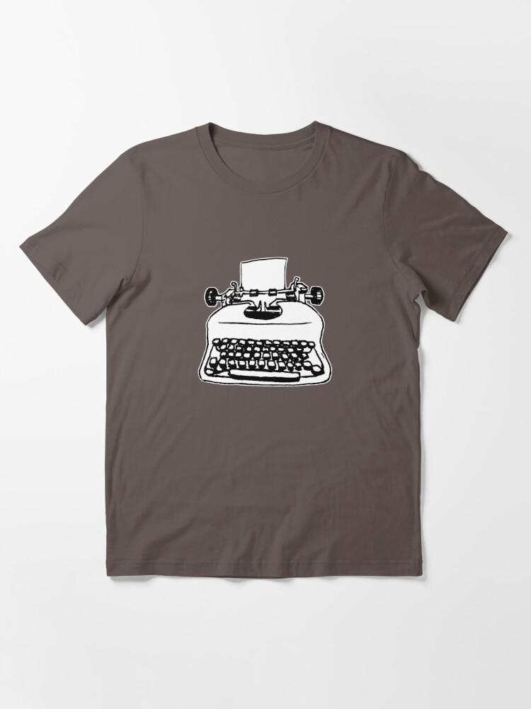 T-shirt essentiel ''Vieille machine à écrire': autre vue