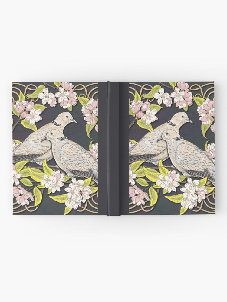 Alternate view of Celtic Collared Doves in Blossom Hardcover Journal