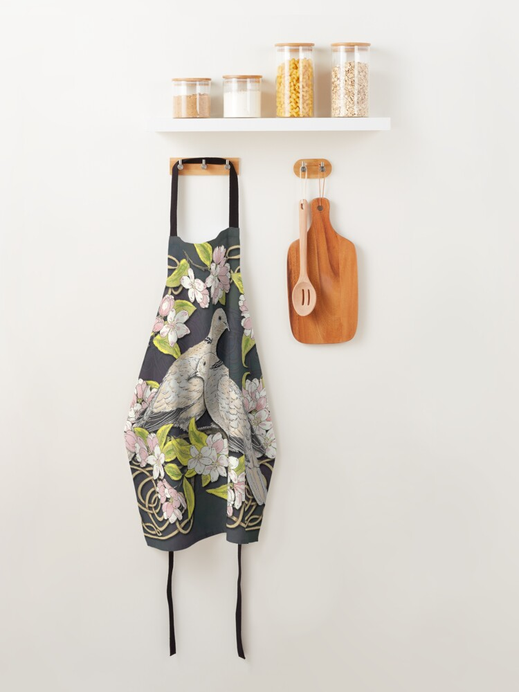 Alternate view of Celtic Collared Doves in Blossom Apron