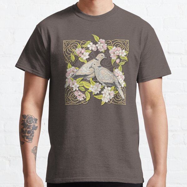Celtic Collared Doves in Blossom Classic T-Shirt