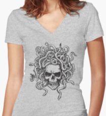 skull219 Women's Fitted V-Neck T-Shirt