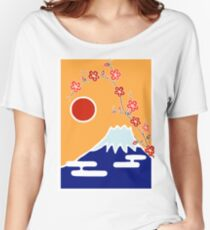 Mount Fuji in Spring Women's Relaxed Fit T-Shirt