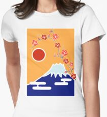 Mount Fuji in Spring Women's Fitted T-Shirt