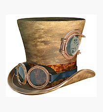 Steampunk Hat and Goggles Photographic Print