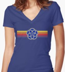 Old Epcot Logo Tee Shirt Women's Fitted V-Neck T-Shirt