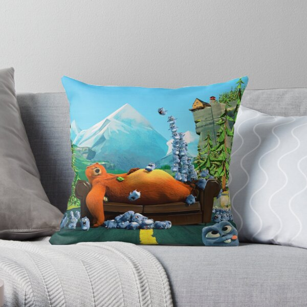 Grizzy and lemmings Tabodi Siesta time Throw Pillow