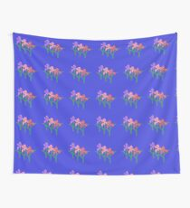 Sweet Coral Lilac & Pink Floral Print Wall Tapestry