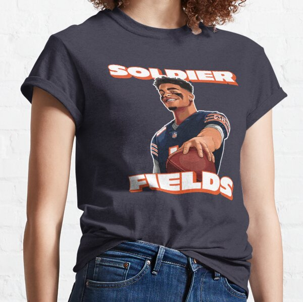 Soldier Fields, Justin Fields, Chicago Bears Classic T-Shirt