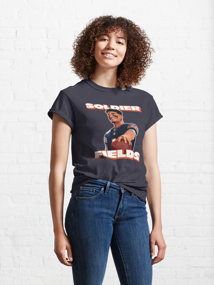 Alternate view of Soldier Fields, Justin Fields, Chicago Bears Classic T-Shirt