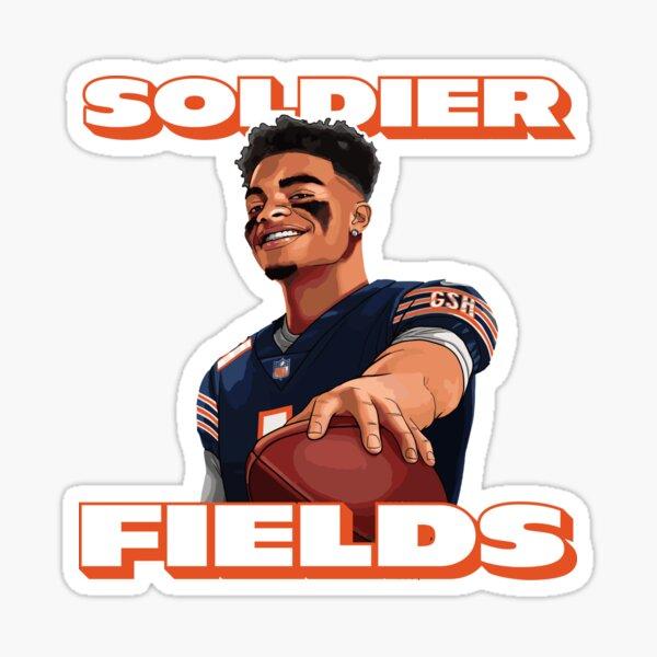 Soldier Fields, Justin Fields, Chicago Bears Sticker