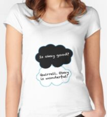 Is Okay Good? Quirrell. Okay Is Wonderful! Women's Fitted Scoop T-Shirt
