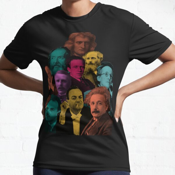 Most Renowned Physicists in one place (Mashup, collage) Active T-Shirt