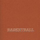 Basketball Texture and Text by Karin  Hildebrand Lau