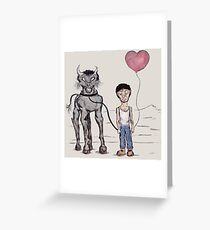 Jeff and The Beast Greeting Card