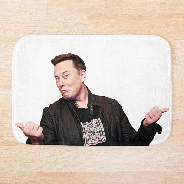 Elon Musk, In Elon Musk We Trust Bath Mat
