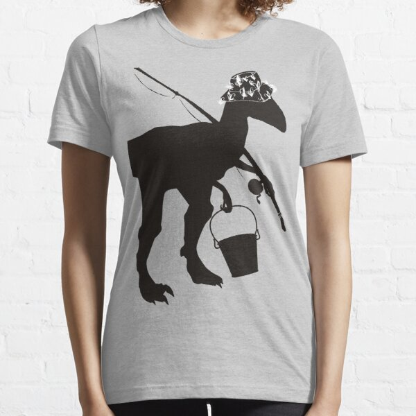 Funny fly fishing dinosaur Essential T-Shirt