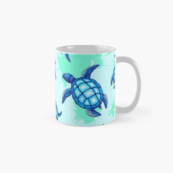 Sea Turtle Blue and Turquoise Classic Mug