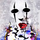 Behind The Mask - Image and Poem by CarolM
