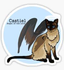 Cat Castiel - Angel kitty of the Lord Sticker