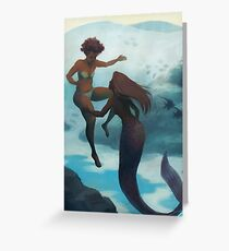 I Fell in Love With a Mermaid Greeting Card