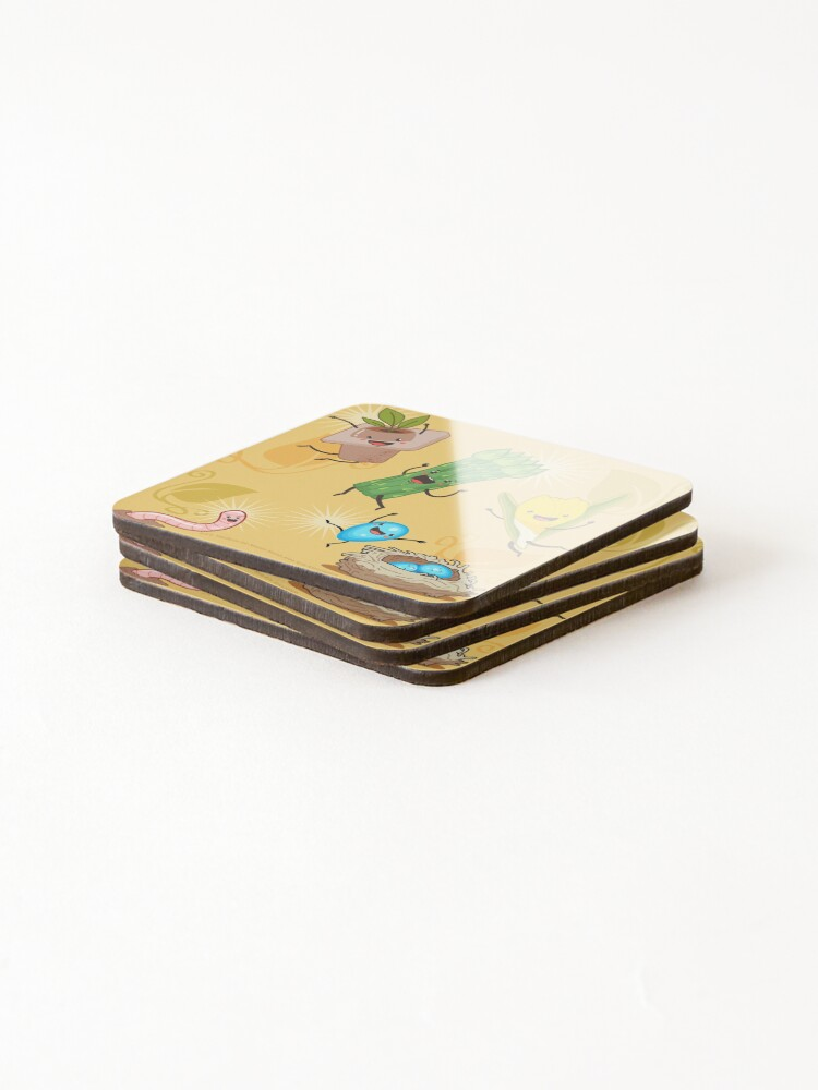 Alternate view of Wisconsin + Spring = Happiness Coasters (Set of 4)