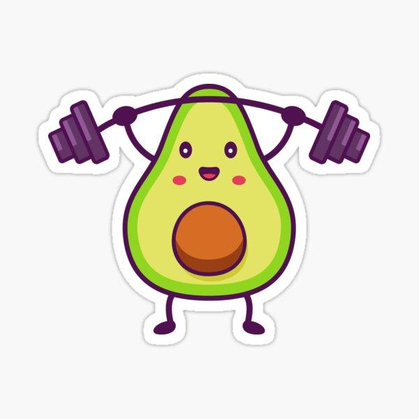 Weightlifting Avocado Sticker