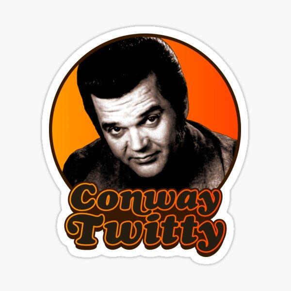 Conway Twitty ))(( Retro Country Legend Design Sticker