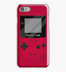 Gameboy Color 2.0 - Red iPhone Case/Skin