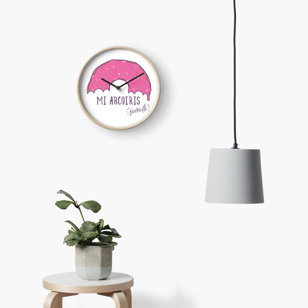 Mi arcoiris favorito - fondos claros Reloj