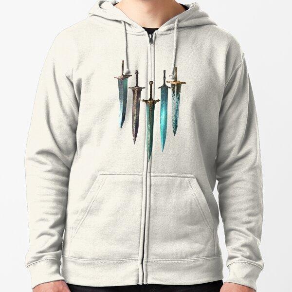 Moonlight Sword Zipped Hoodie