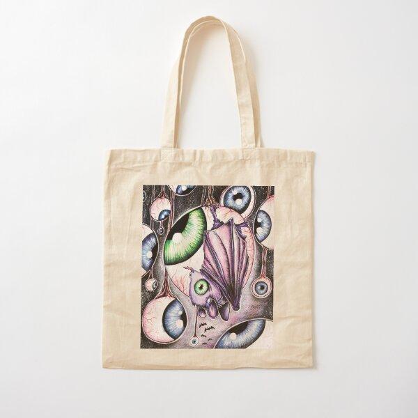Eyeball party, absurd art Cotton Tote Bag